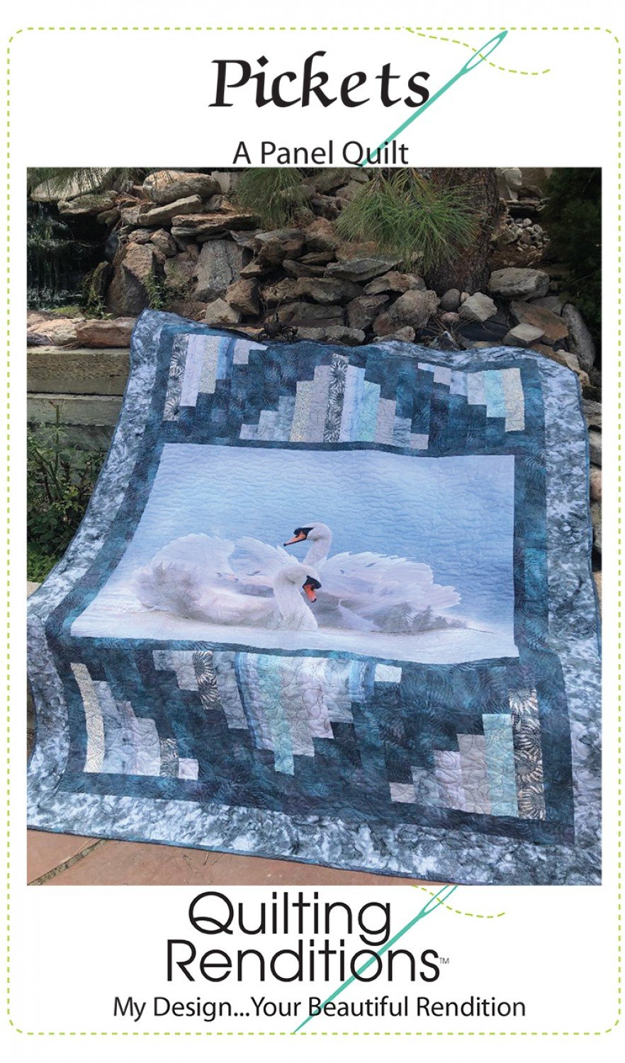 Pickets - A Panel Quilt/Quilting Renditions
