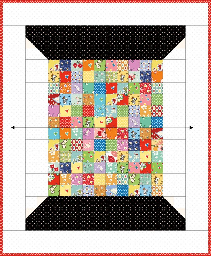 Scrappy Spool Kit/1Panel 1 Finished Easy Piecing Grid + Pattern