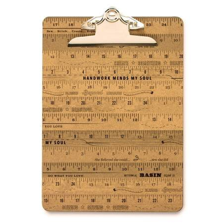 Stacy West Metal Large Ruler Clip Board