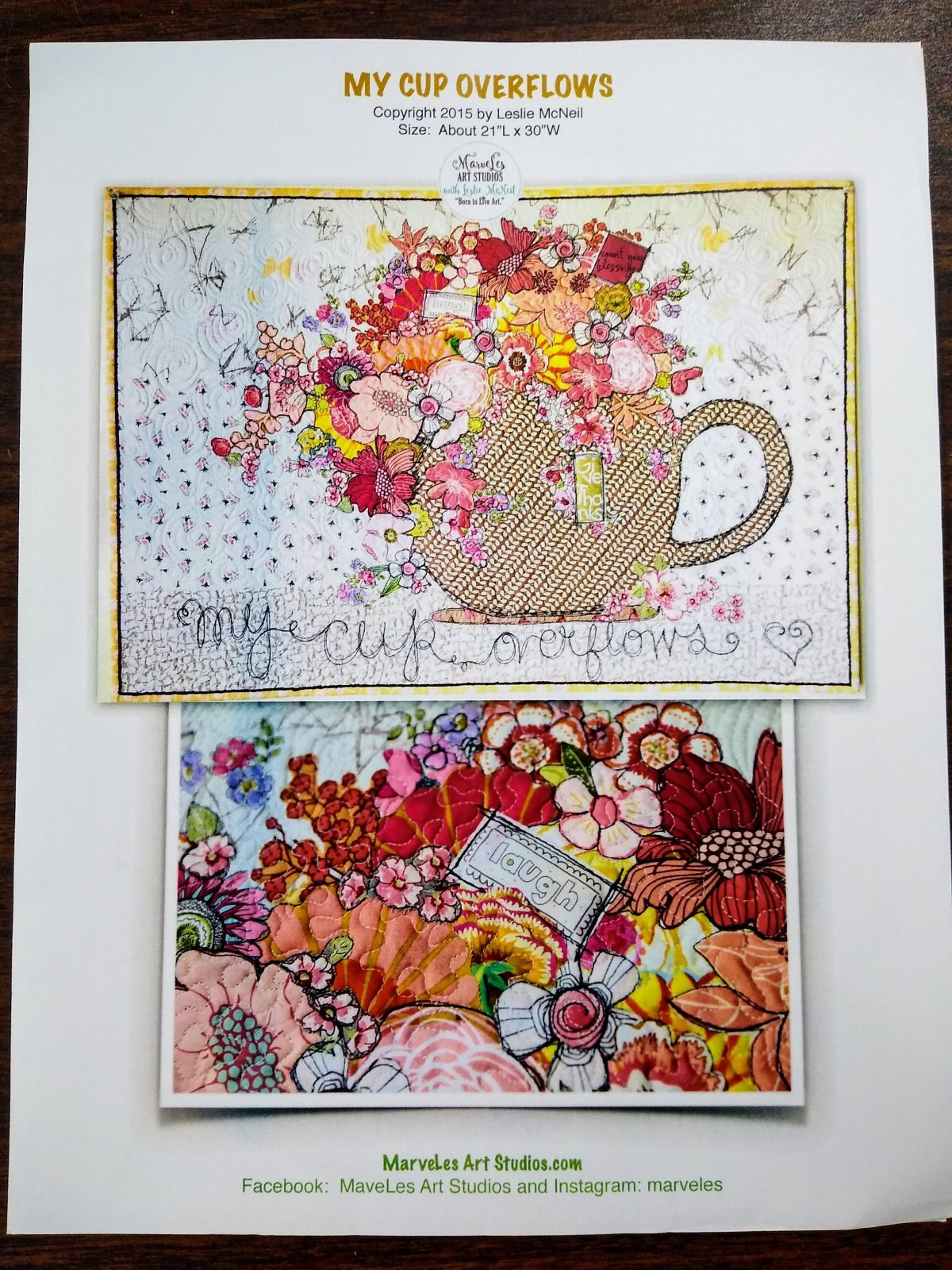 My Cup Overflows - MarveLes Art Studios