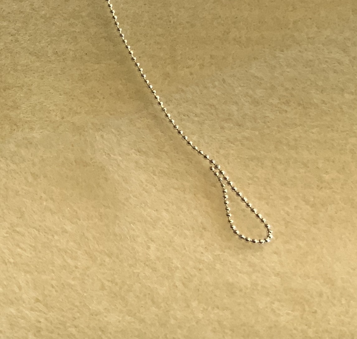 1mm Faceted Ball Chain