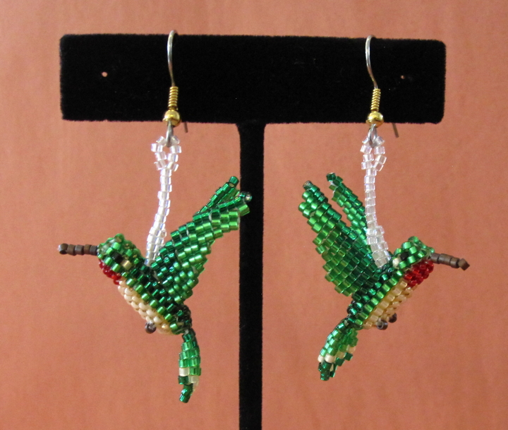 3-D Hummingbird Earrings