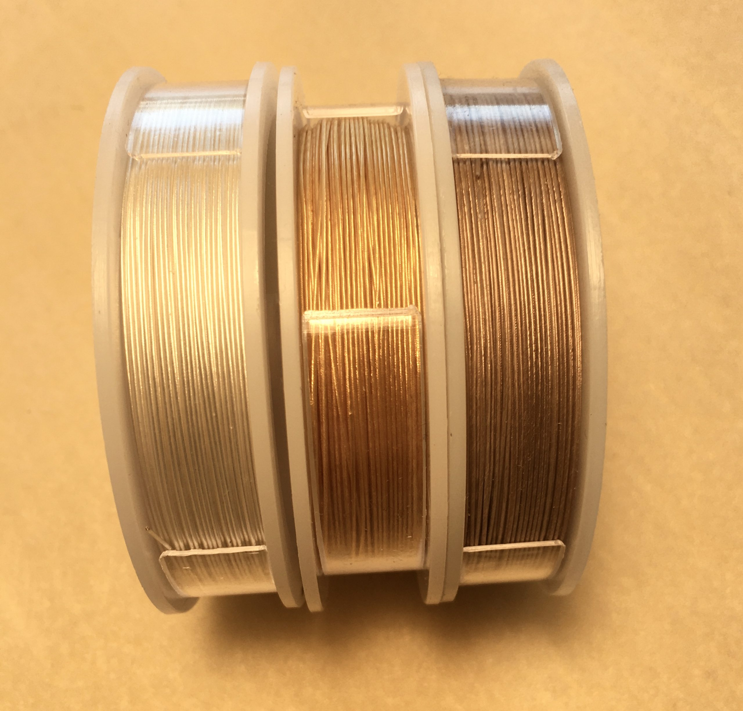 Metallics & Extreme by SoftFlex Co. 22kt Gold Plate 1 Spool Each Diameter