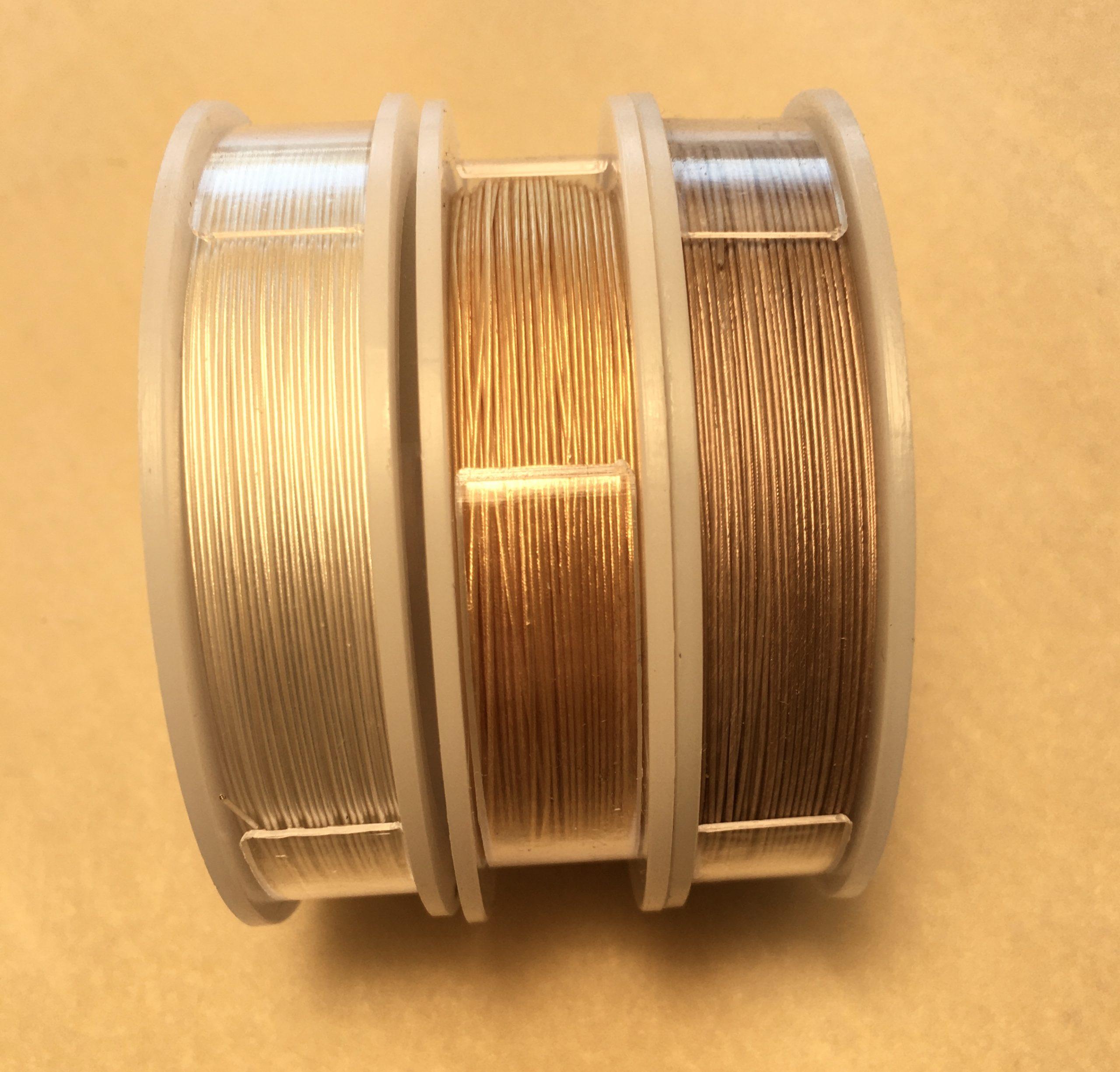 Variety of Sizes -22kt Gold Pl.- 1 Spool Ea. Extreme Soft Flex