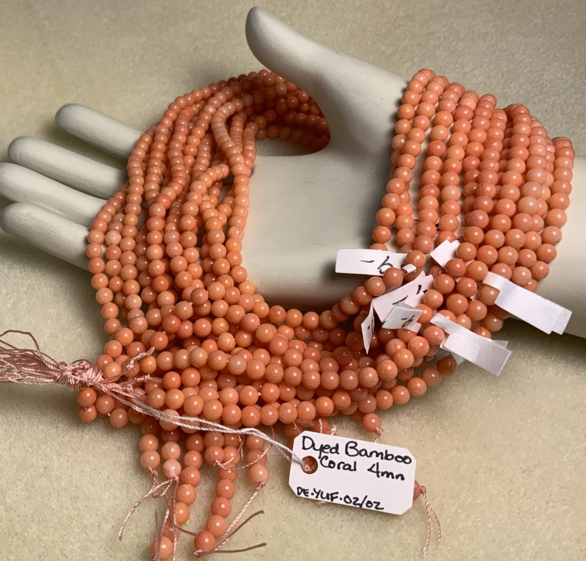 Bamboo Coral 4mm Round Coral