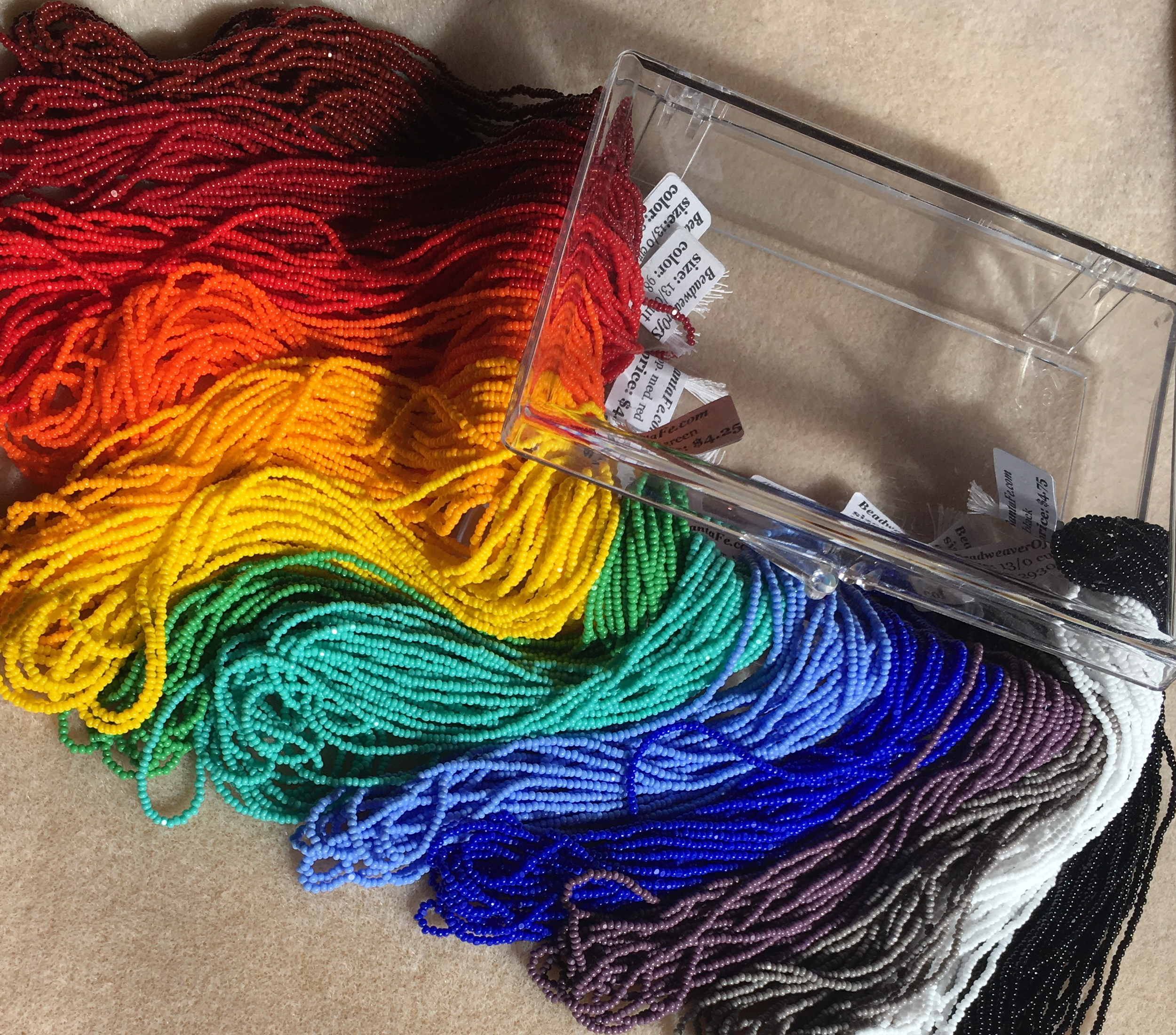 Czech Opaque Rainbow Seed Bead Set