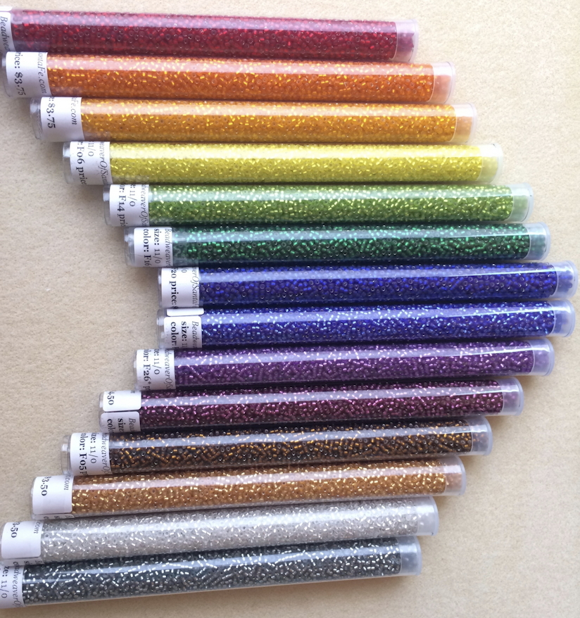 Rainbow Matte Silver-Lined Seed Bead Set