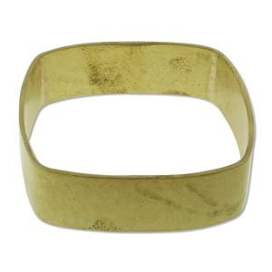 Brass Bracelet Blanks - Square Bangle