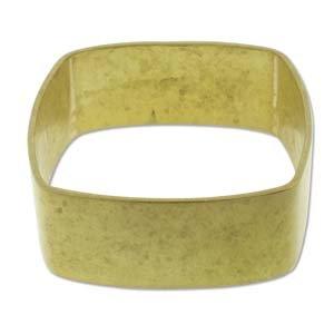 Brass Bracelet Blanks - Square Bangle