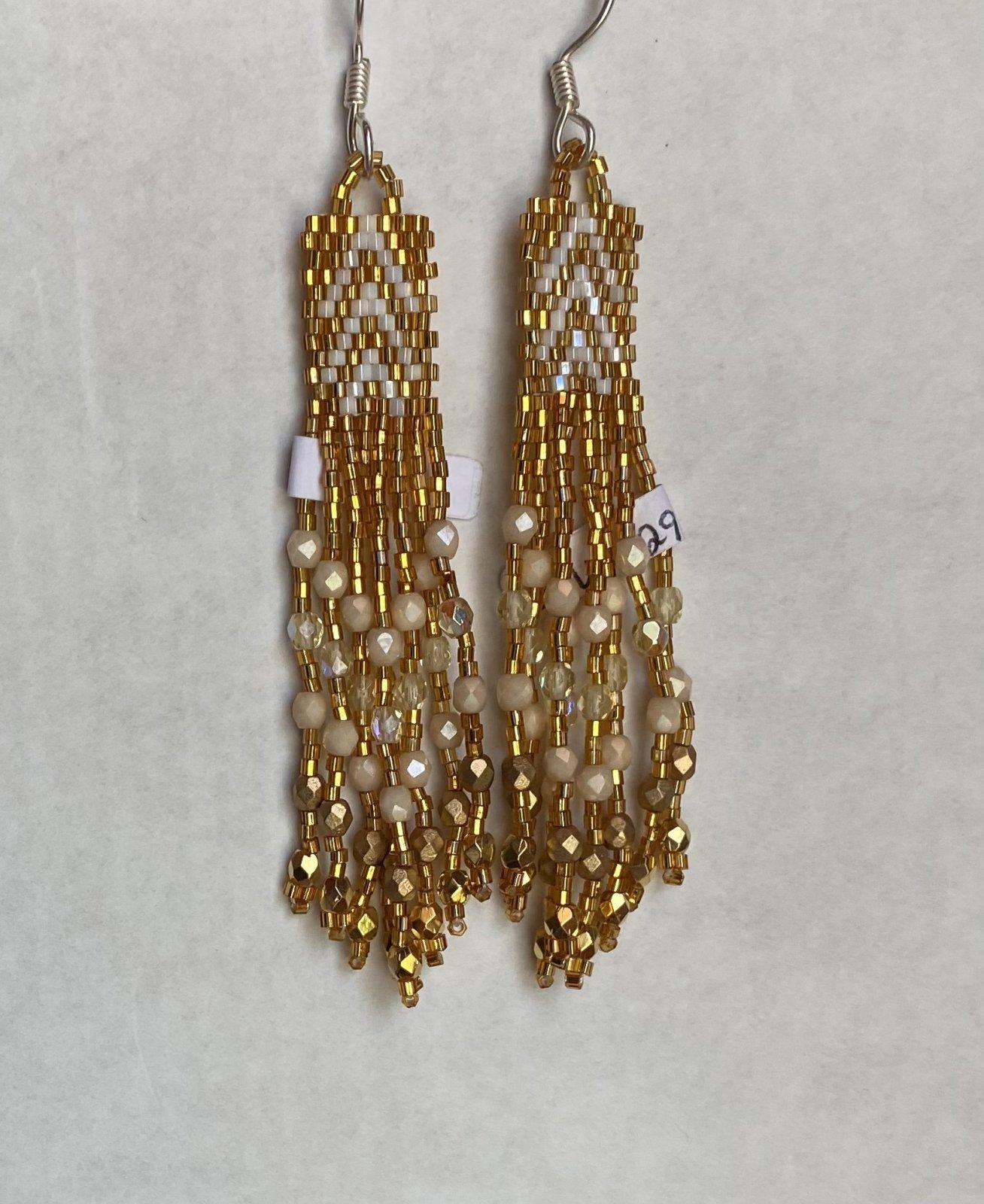 Huichol Earrings (Rectangle short & long)