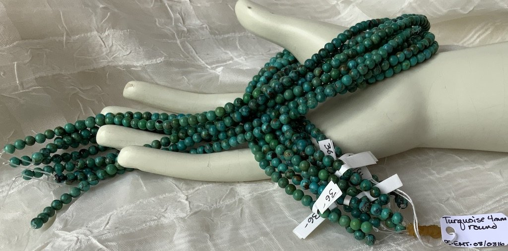 Turquoise 4mm Round A
