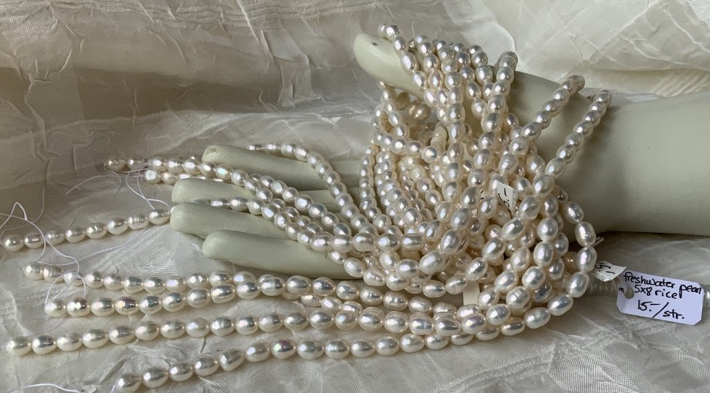 FW Pearl 5x8mm White Rice