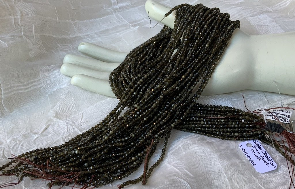 Golden Obsidian 3mm Faceted Round