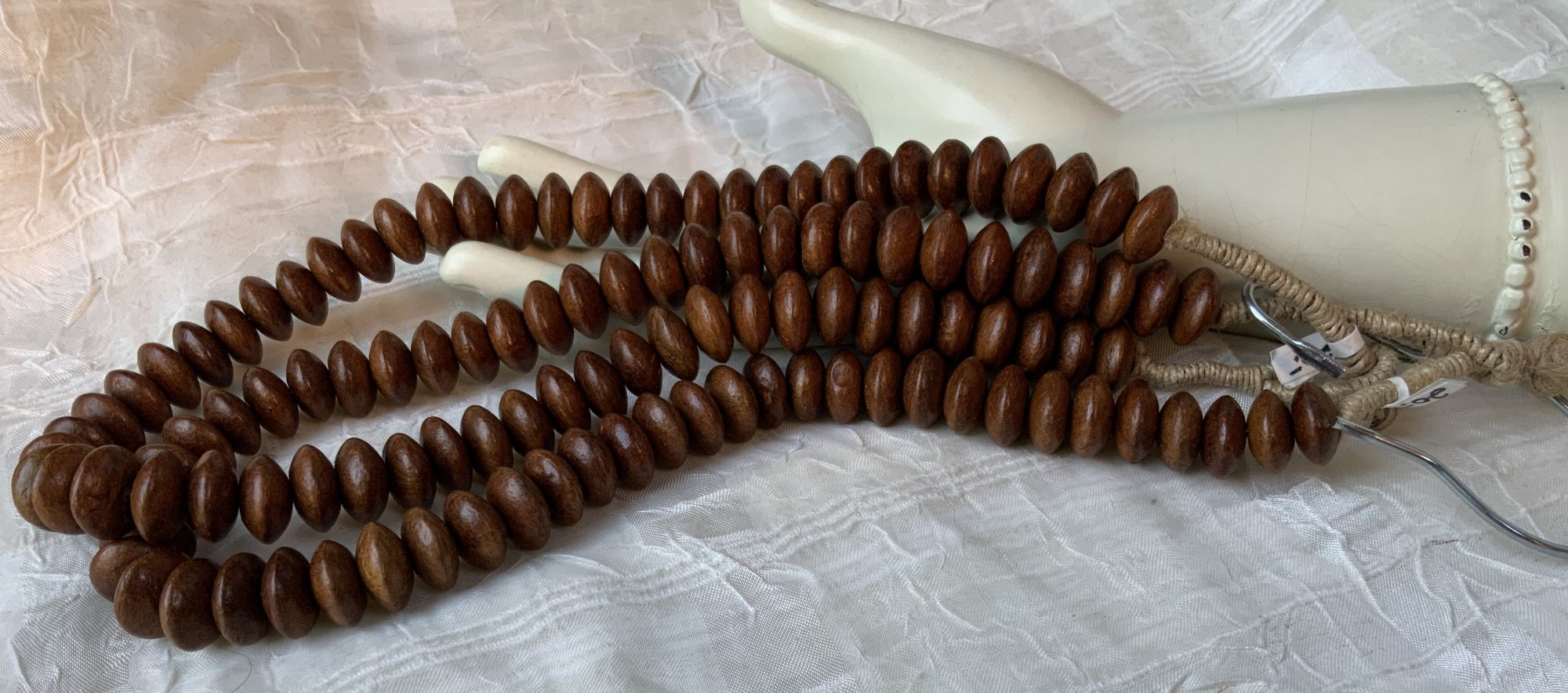 Wood 8x15mm Rondelle 20 Necklace