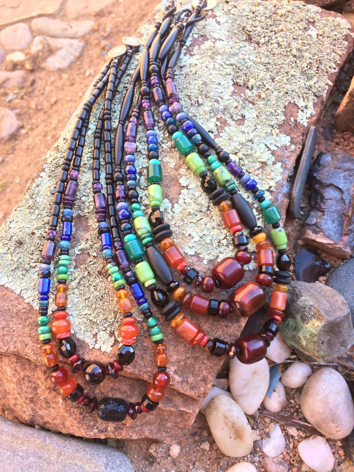 Rainbow Stones Necklace (SJC)