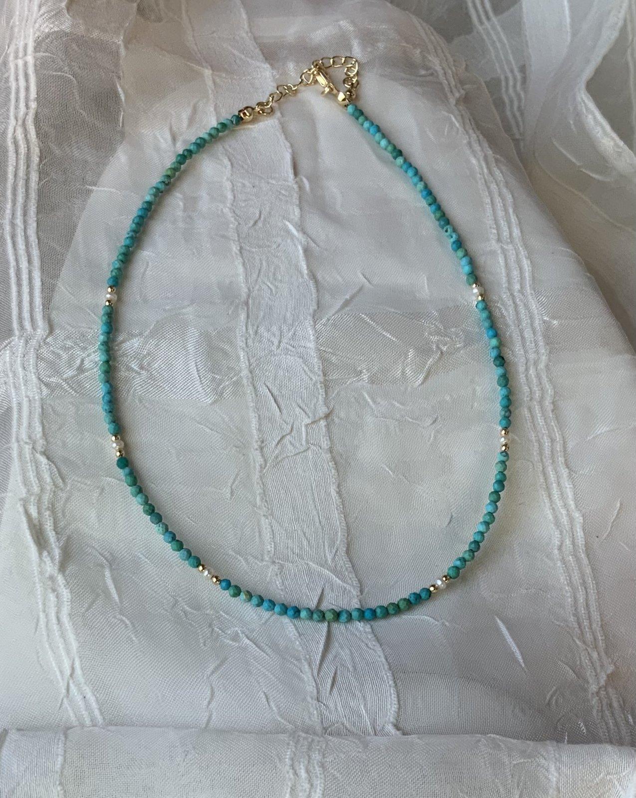 Tiny Stones Necklace Choker 13.5-16