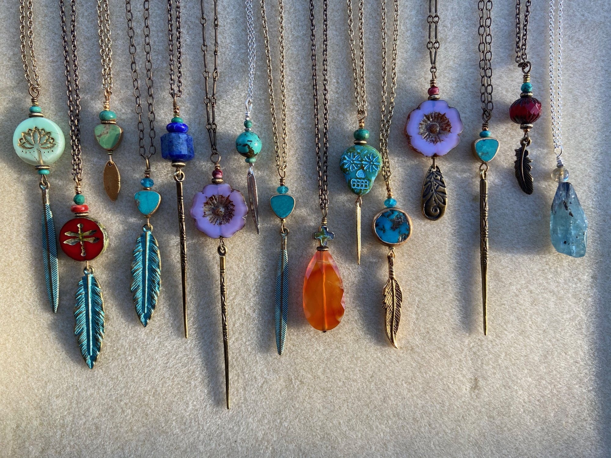 Boho Chain Necklace w/ Pendant (SJC)