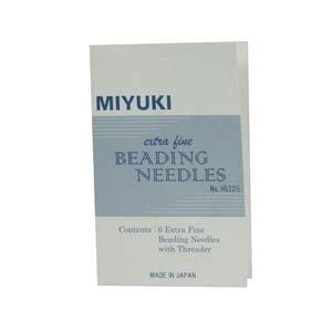 Miyuki Extra Fine Beading Needles 6pcs w/ Threader