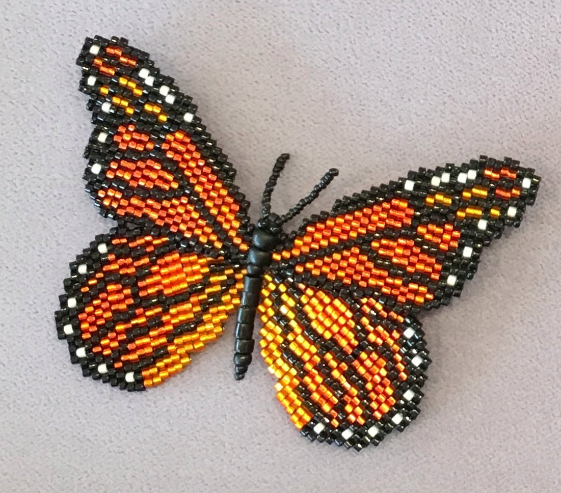 Bead Art from the Heart Pins (Brooches)