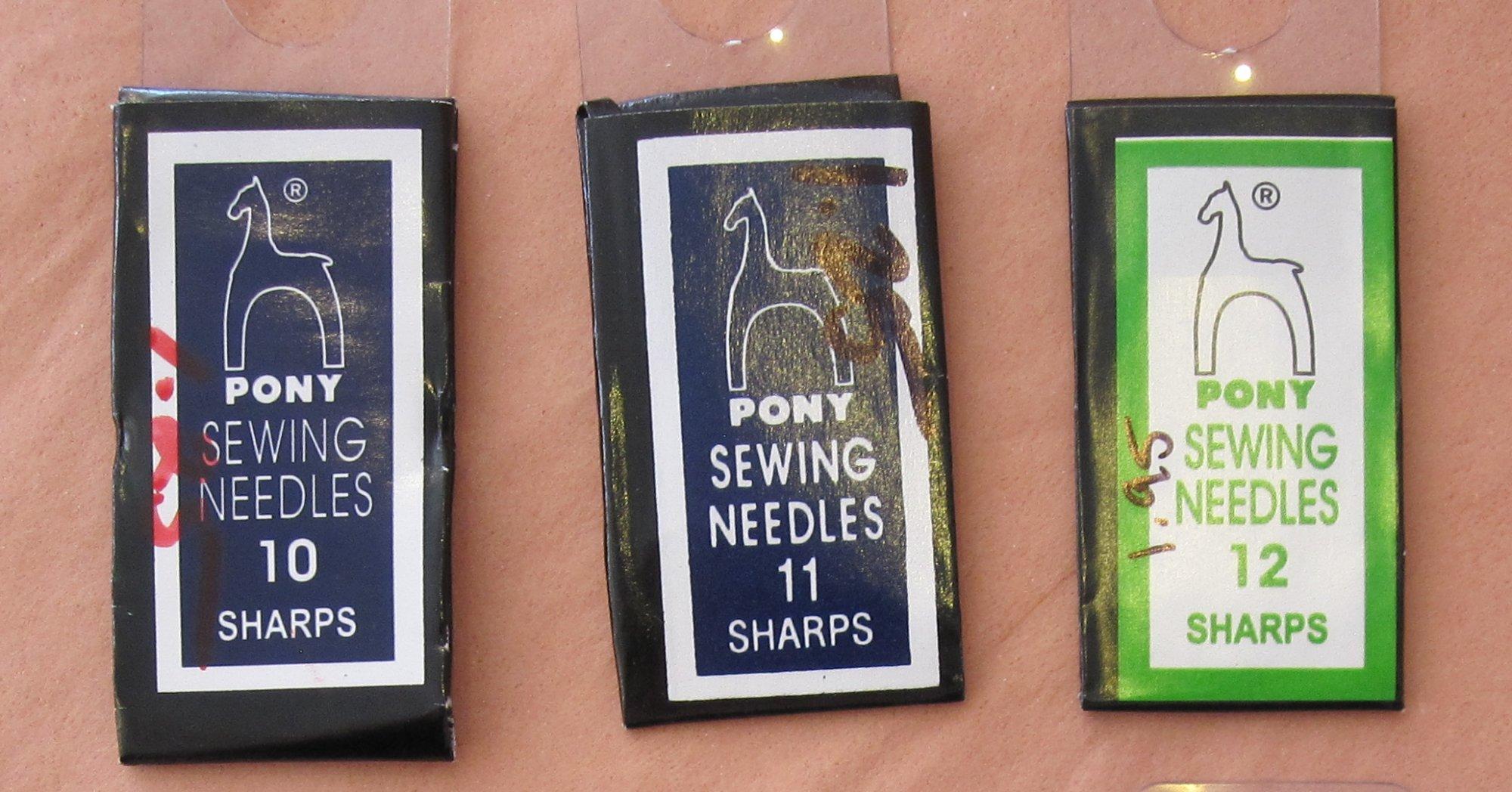Pony Needles - Sharps