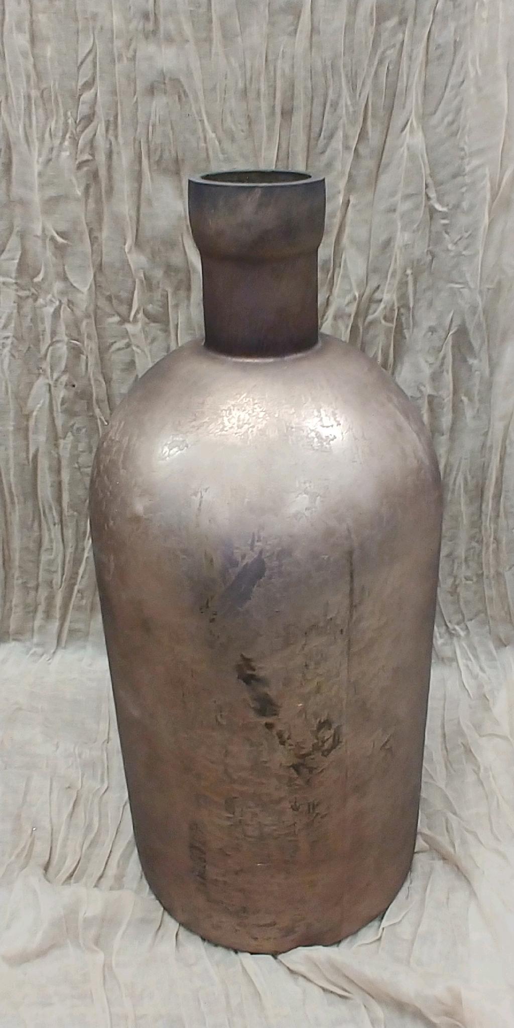 Matte Finish Bronze Glass Vase