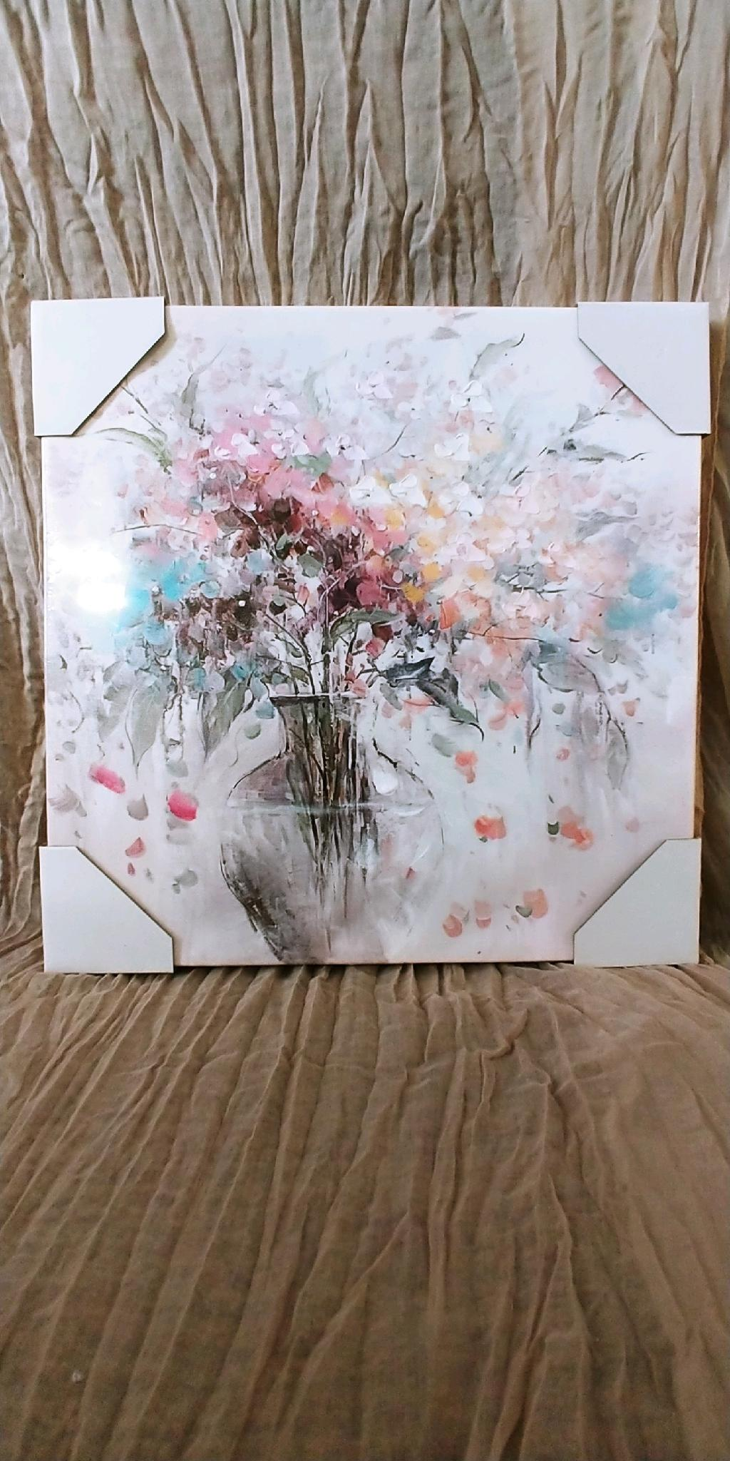 Pastel Floral Bouquet Canvas Print