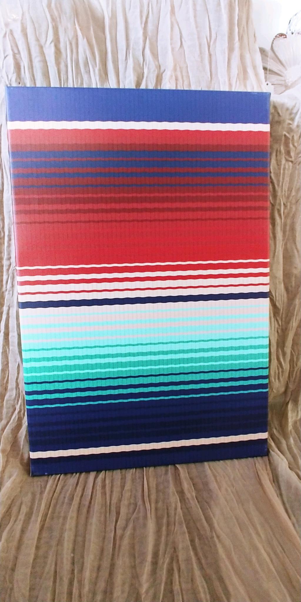 Multicolored Striped Canvas Print