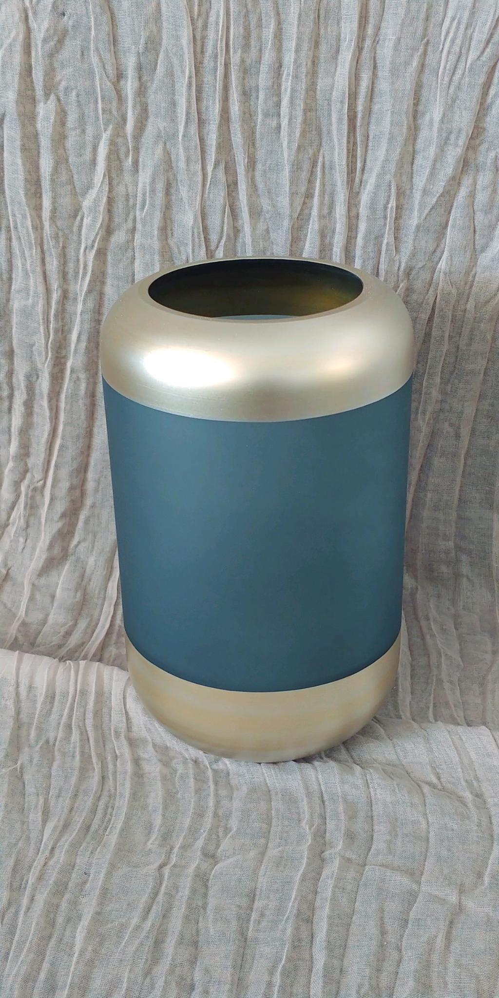 Teal & Gold Vase