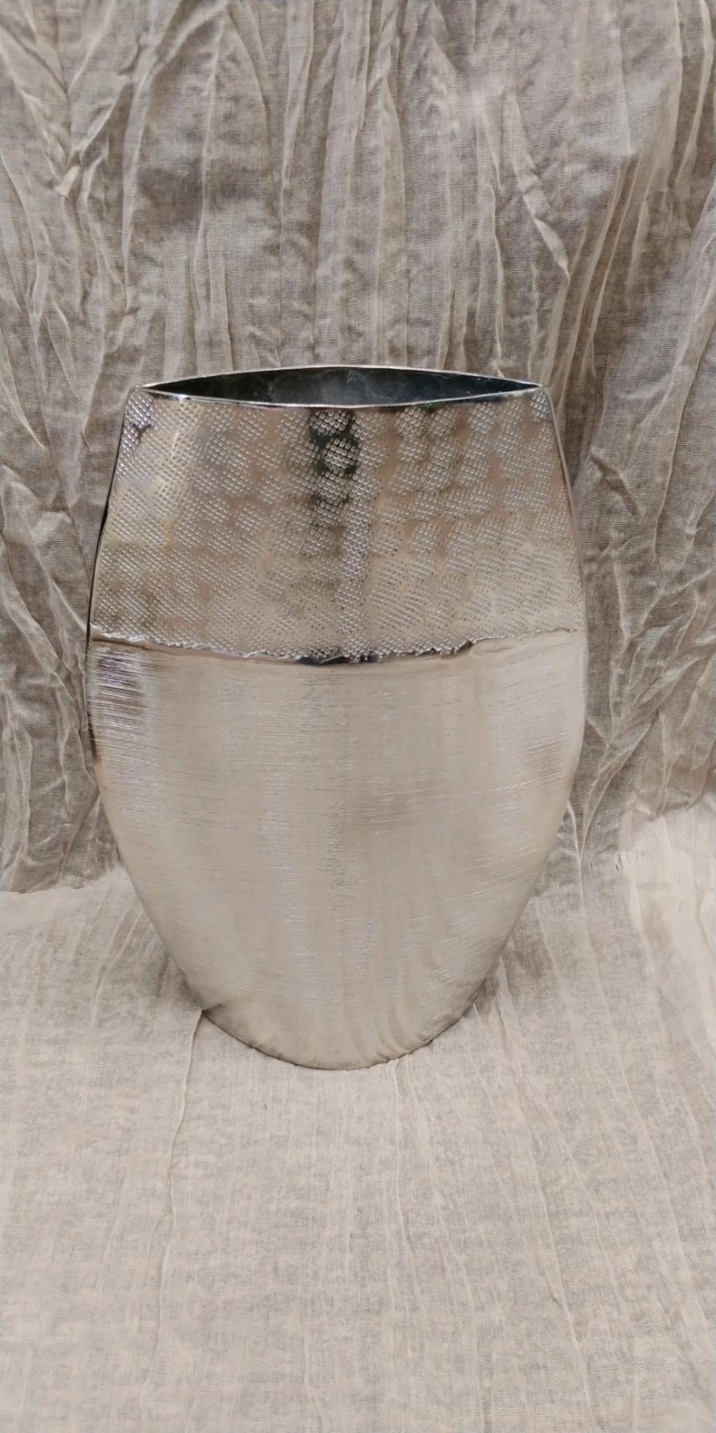 Silver Tin Vase