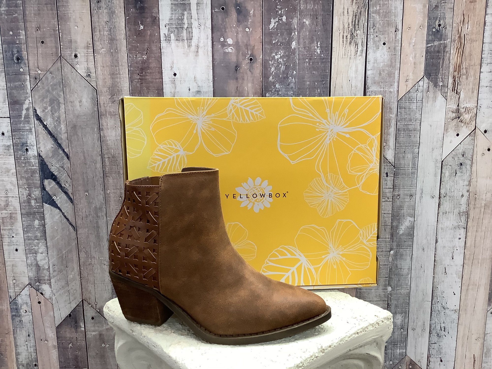 Yellow Box Darma Chestnut Ankle Boot