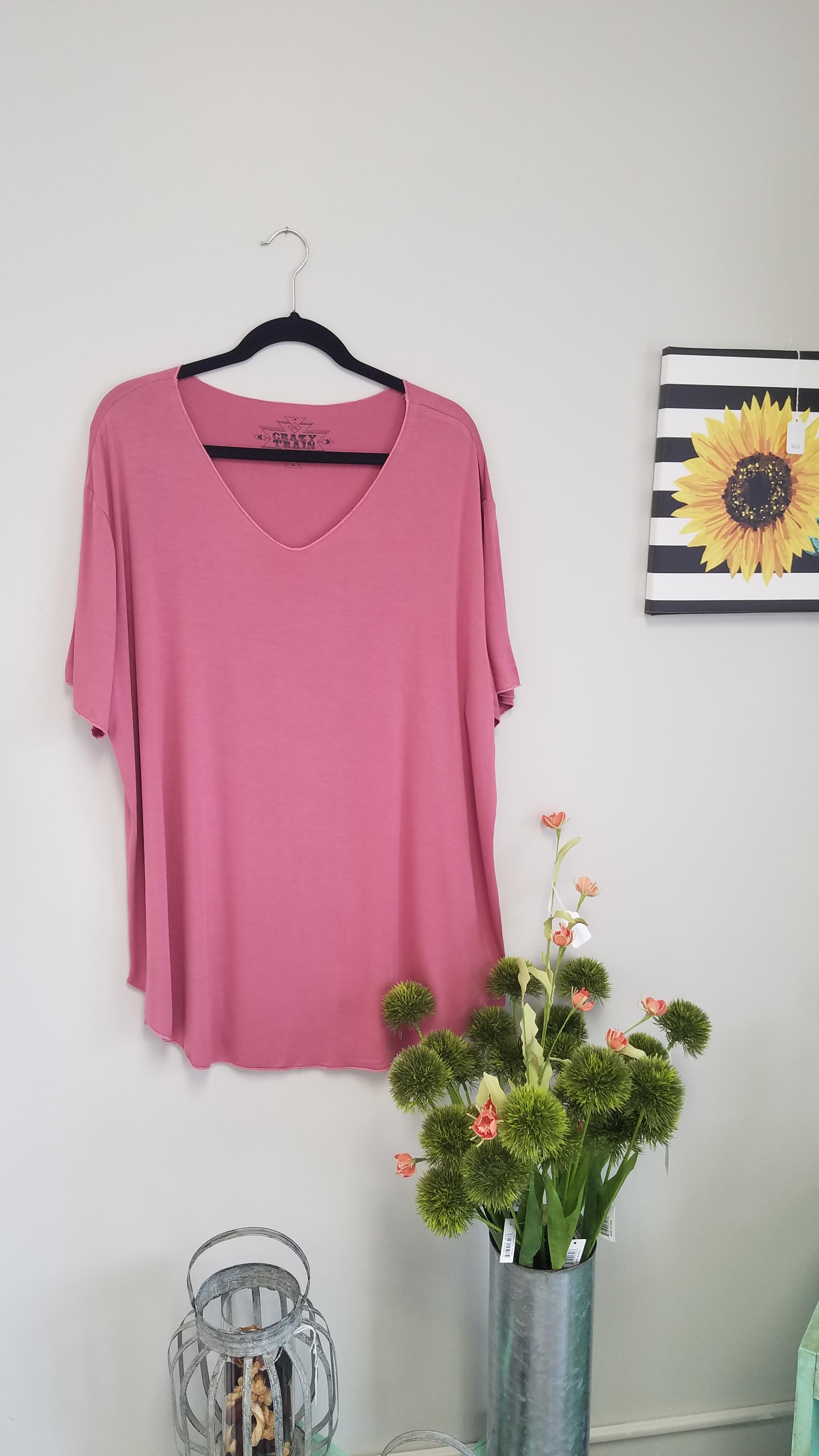 Mauve Butter Basic Tee *Curvy Approved*