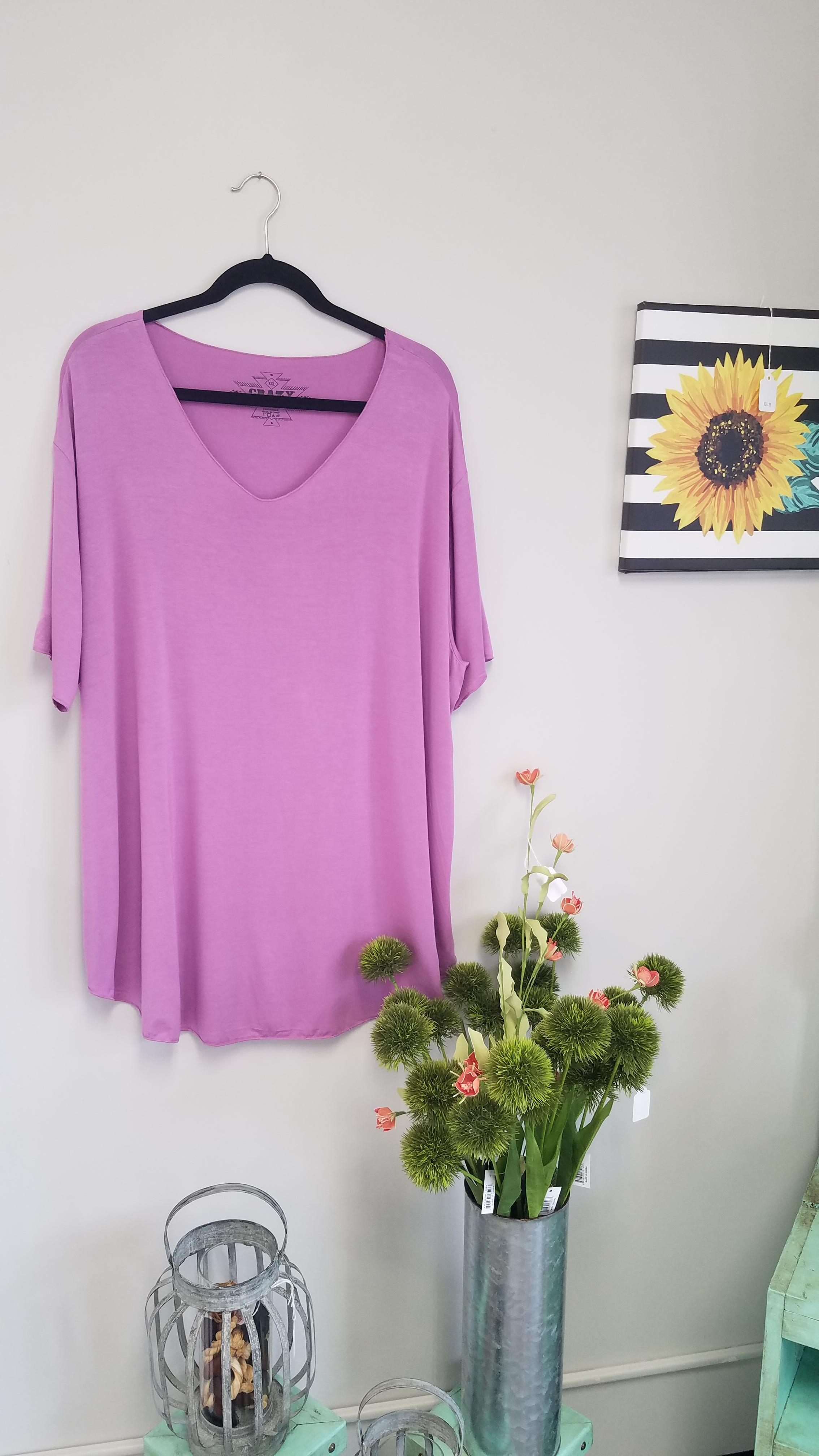 Lavender Butter Basic Tee *Curvy Approved*
