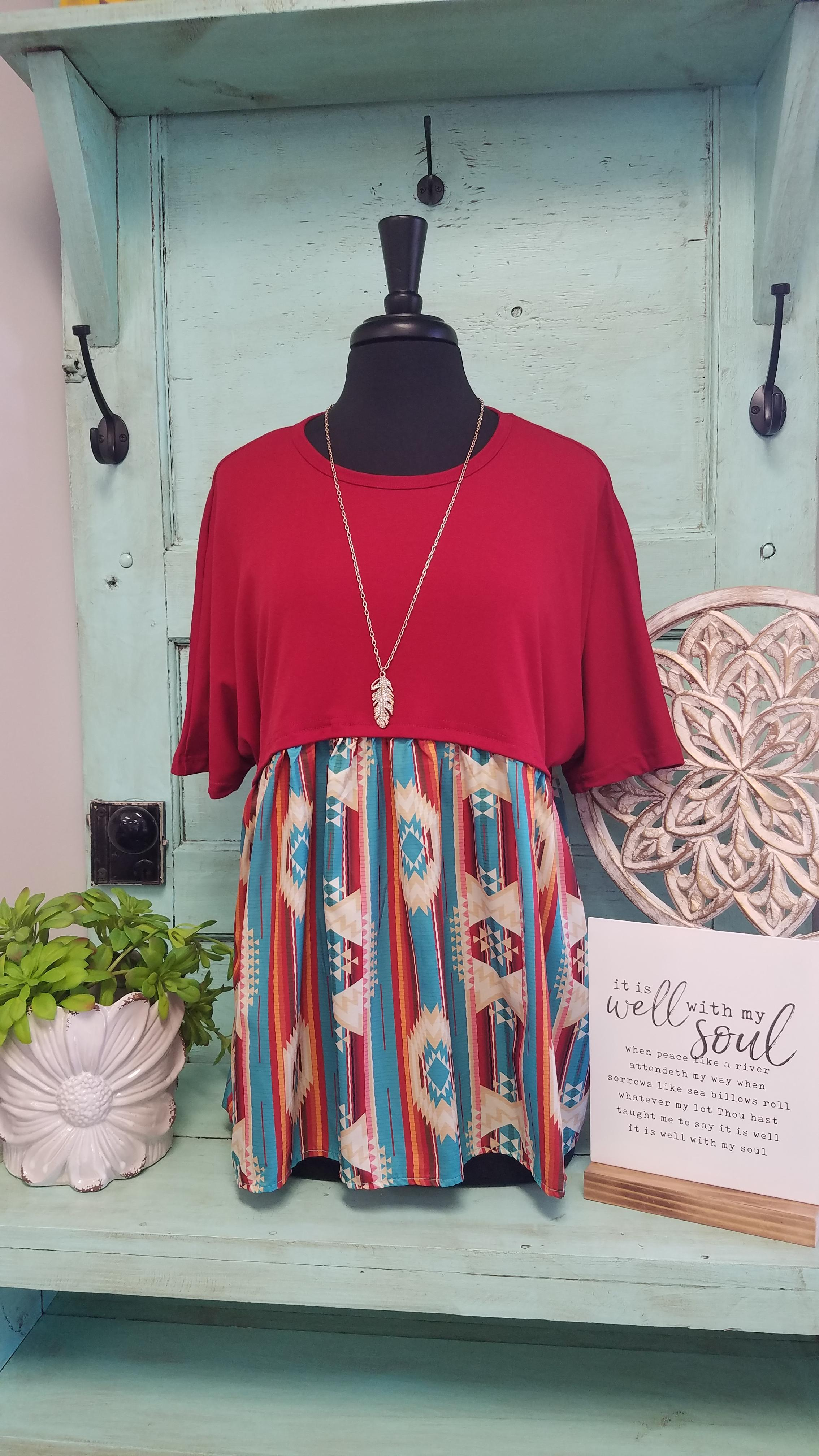 Red Rodeo Top