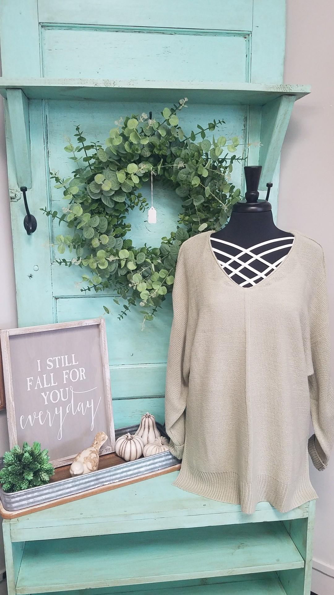 Sage V-Neck Sweater