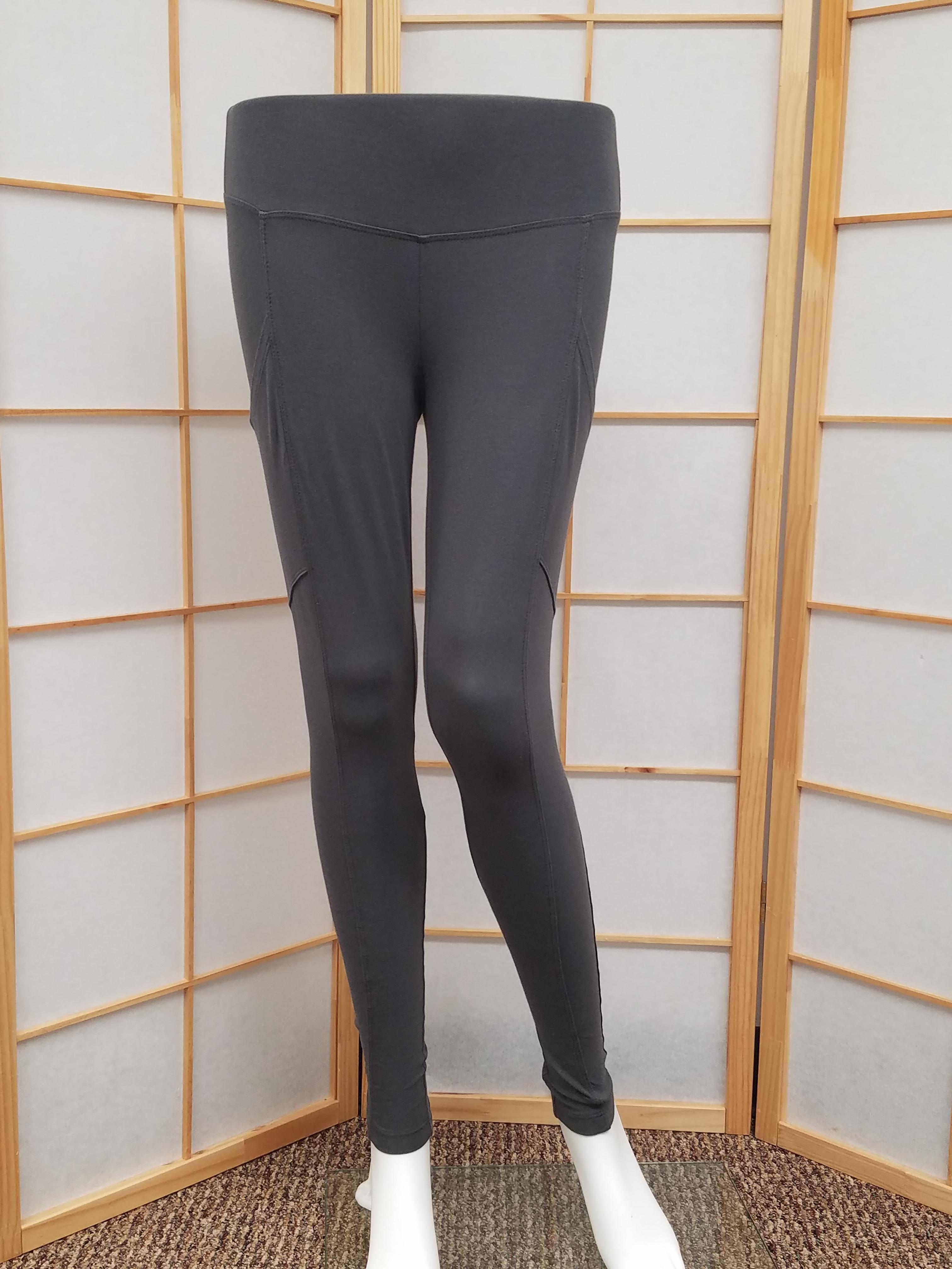 Dark Gray Side Pocket Legging