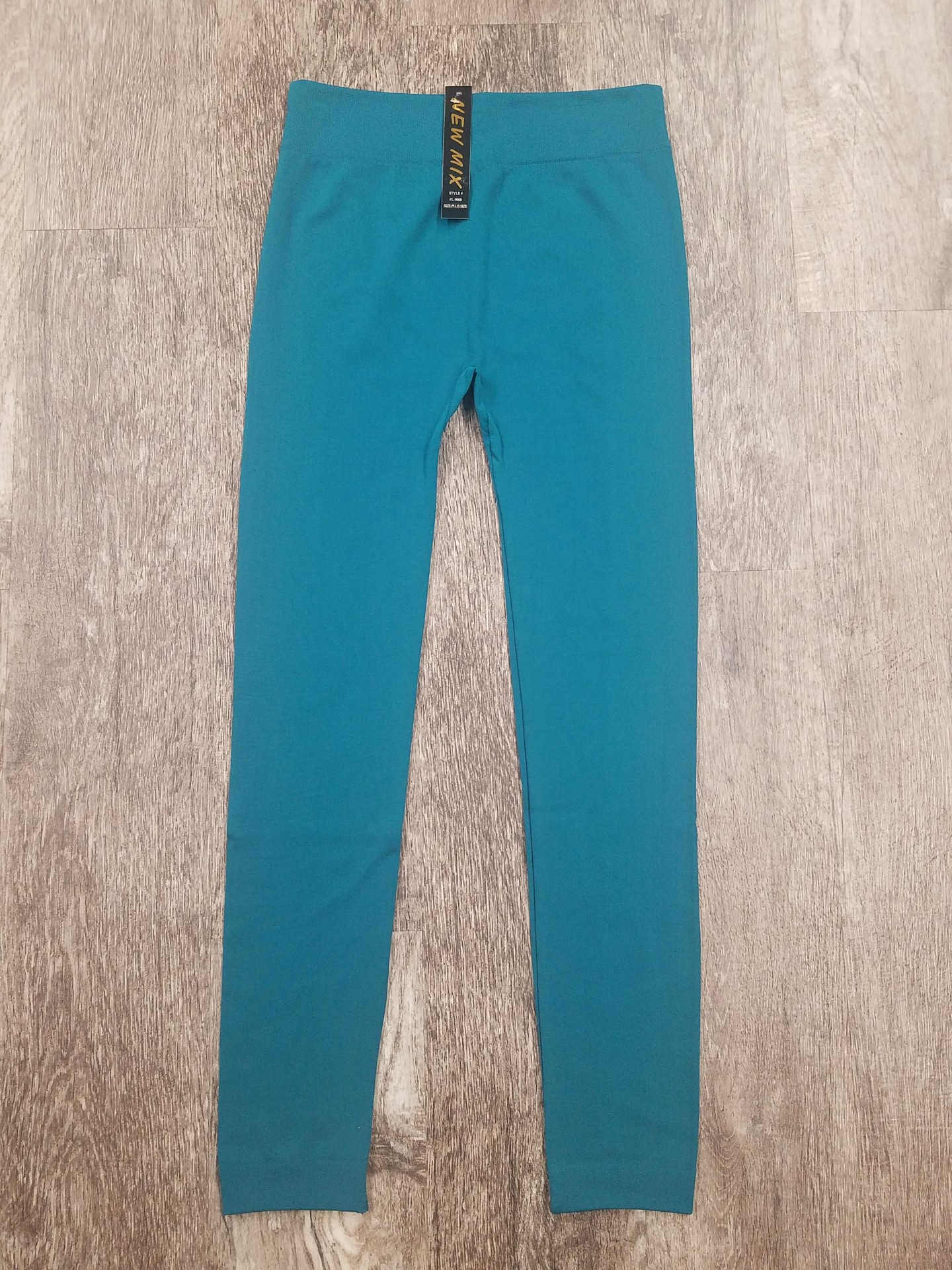 Turquoise Fleece Lined Legging *Curvy Approved*