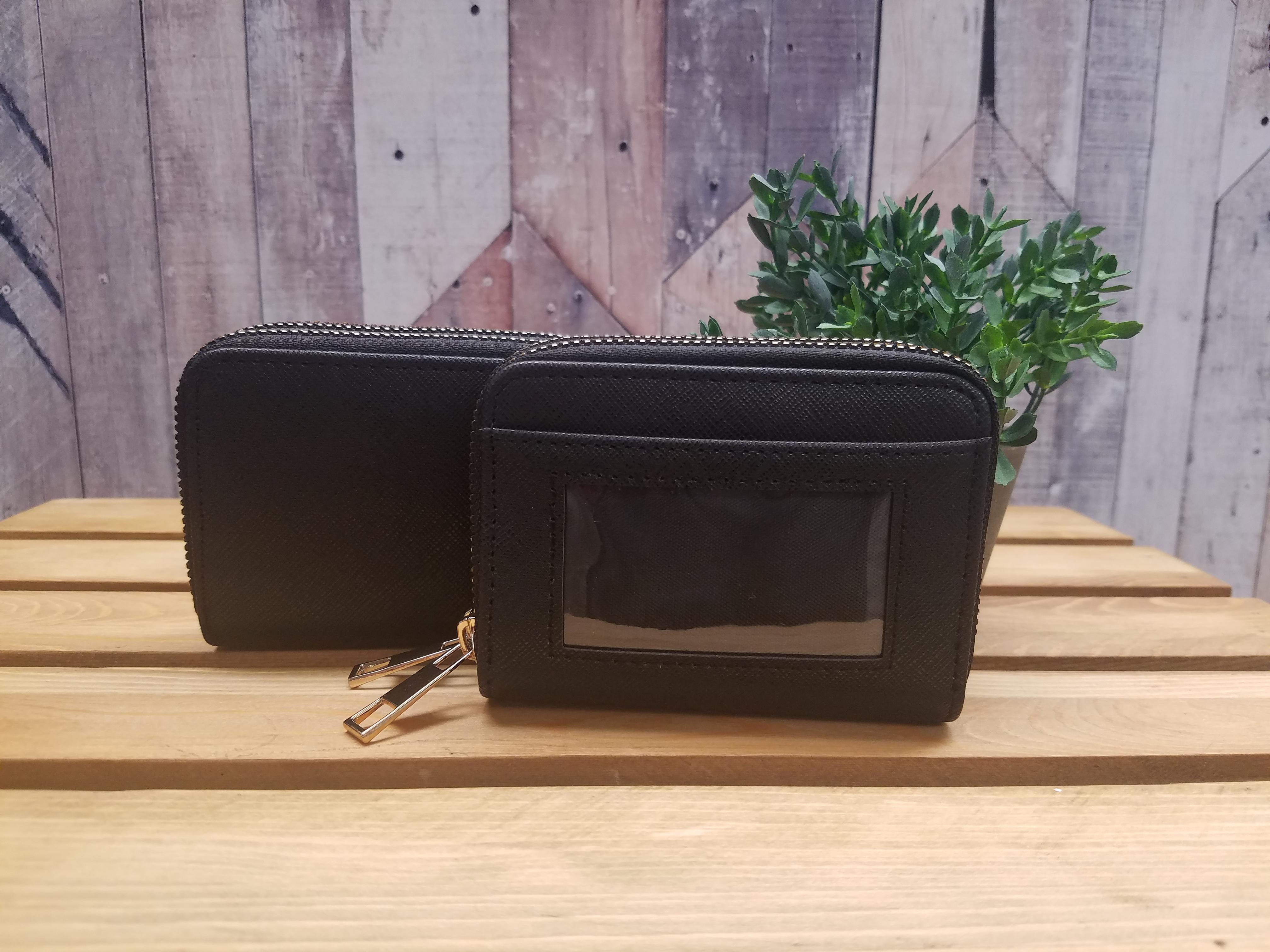 Double Zipper Mini Wallet
