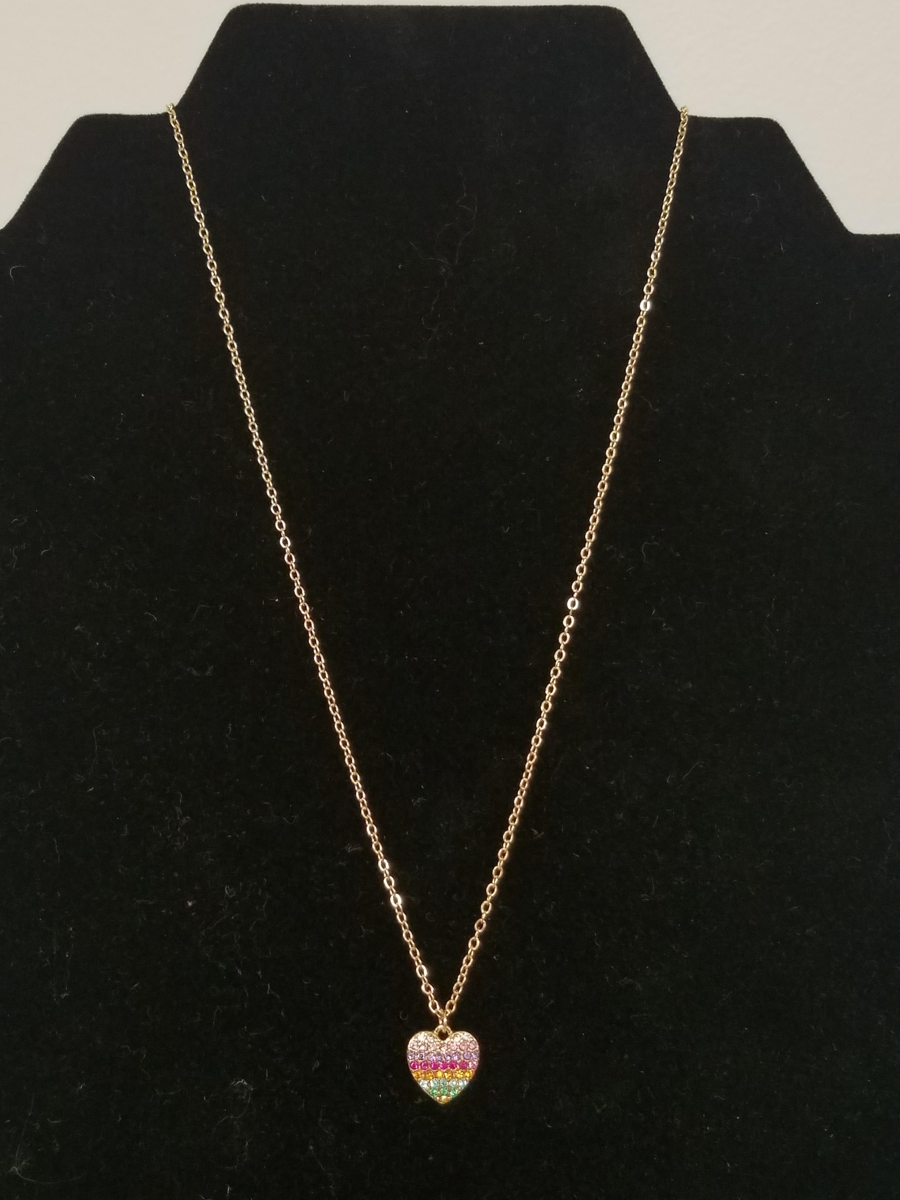 Girls Young Hearts Necklace