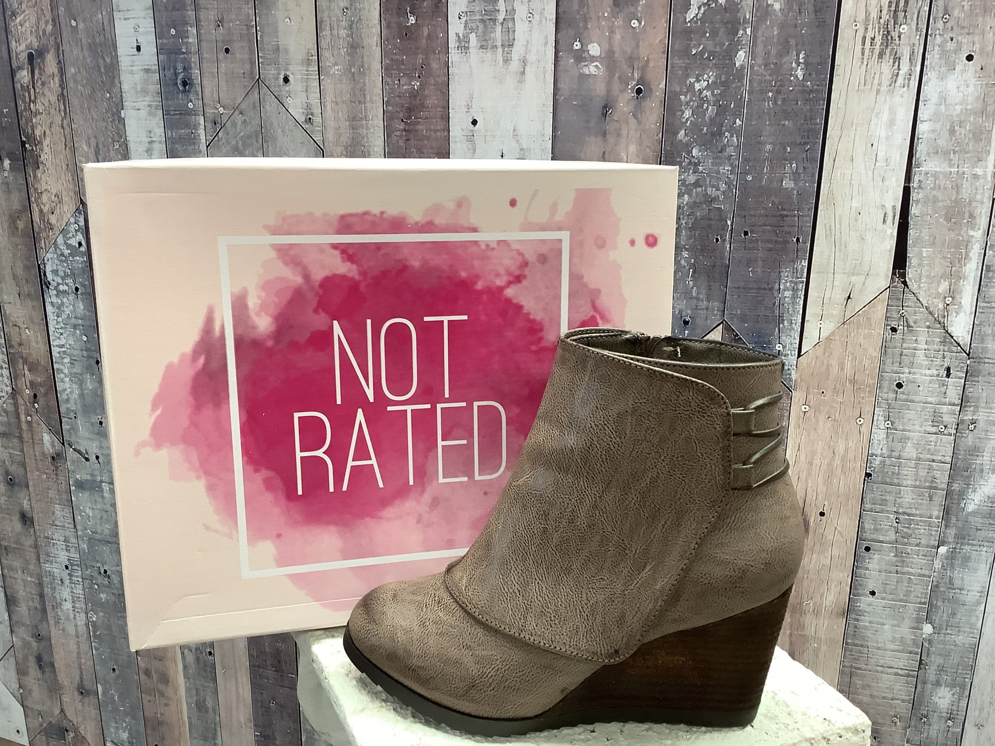 Not Rated Anahata Wedge Ankle Boot