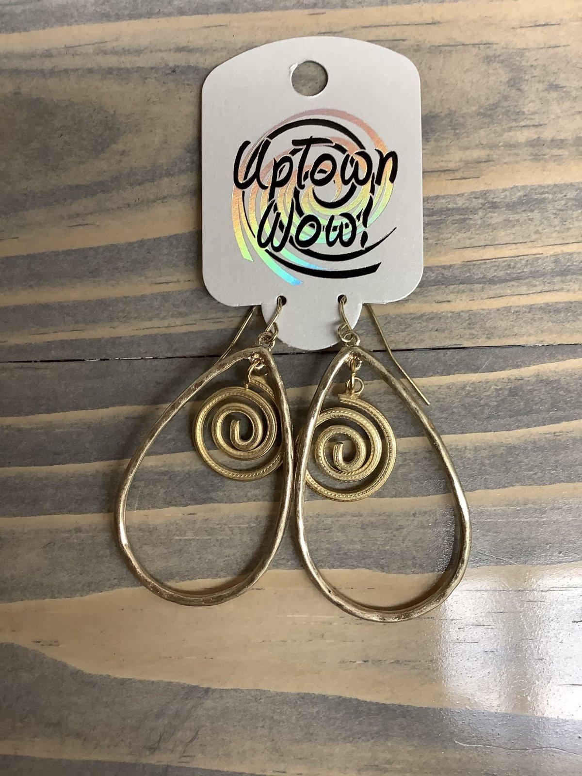 Gold Tear Drop Dangling Earring