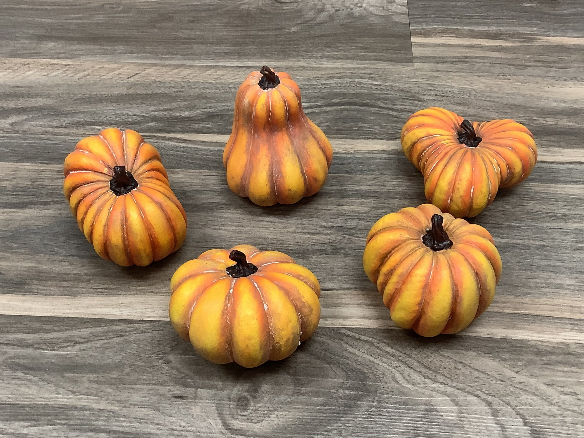 Orange Distressed Gourds