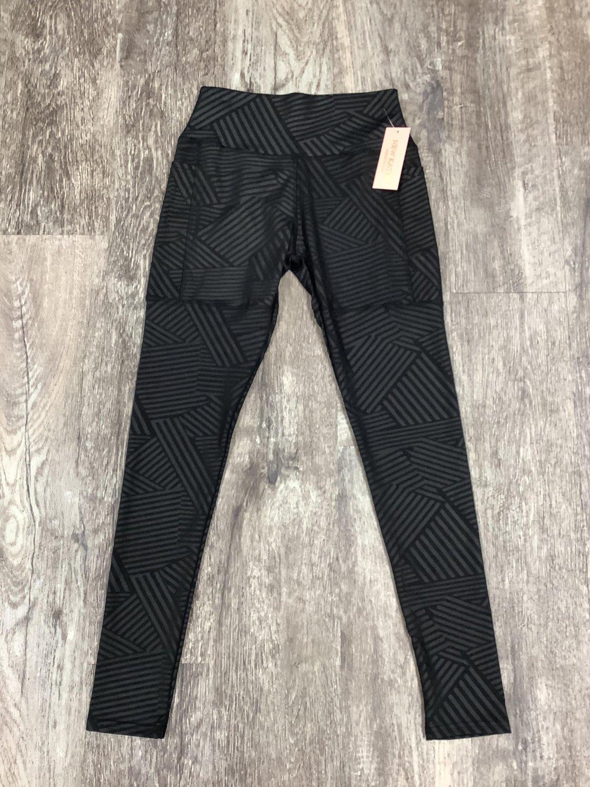 Black Side Pocket Striped Athletic Legging