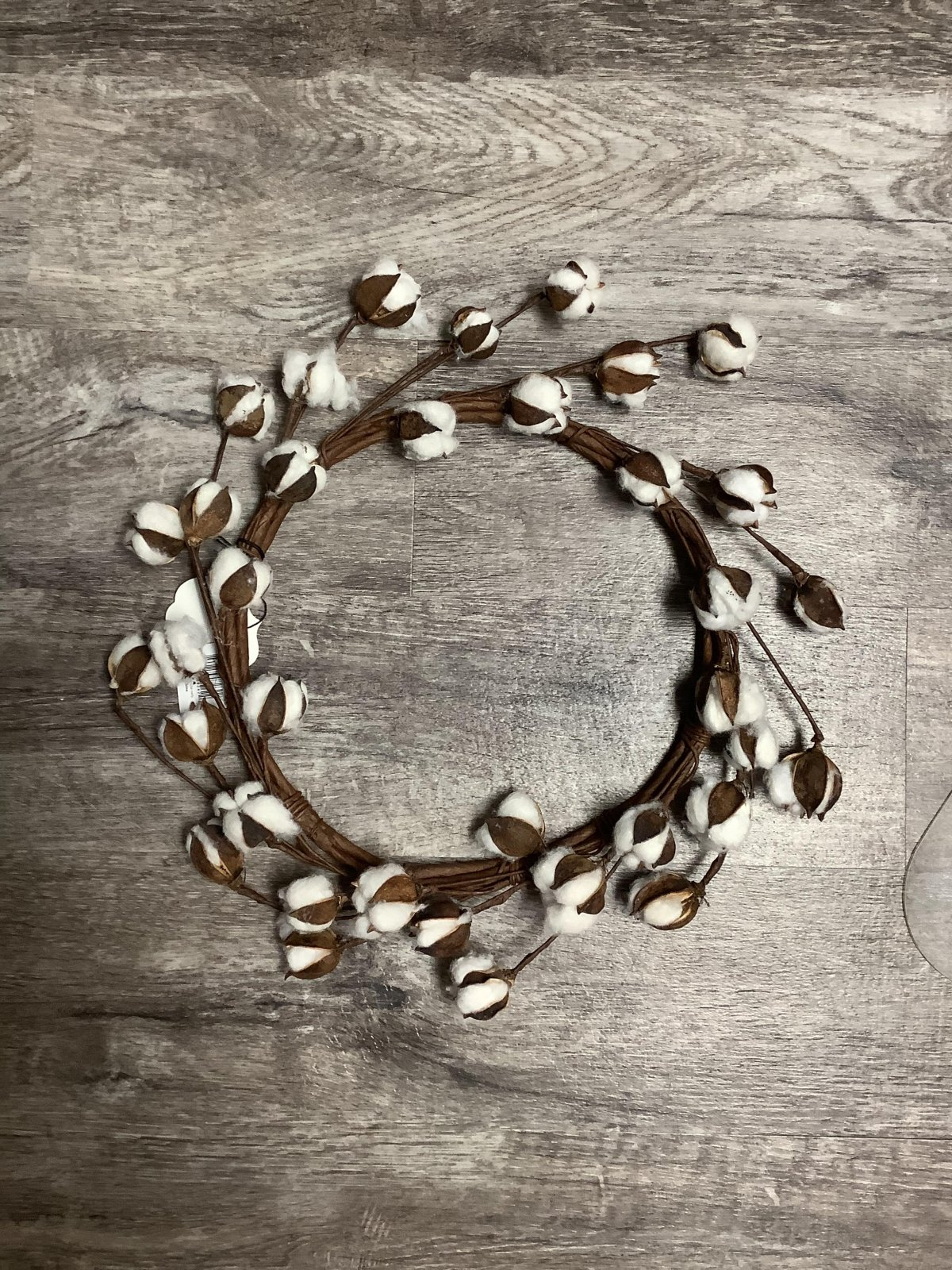 Large Cotton Ball Wreaths 13 inches in diameter