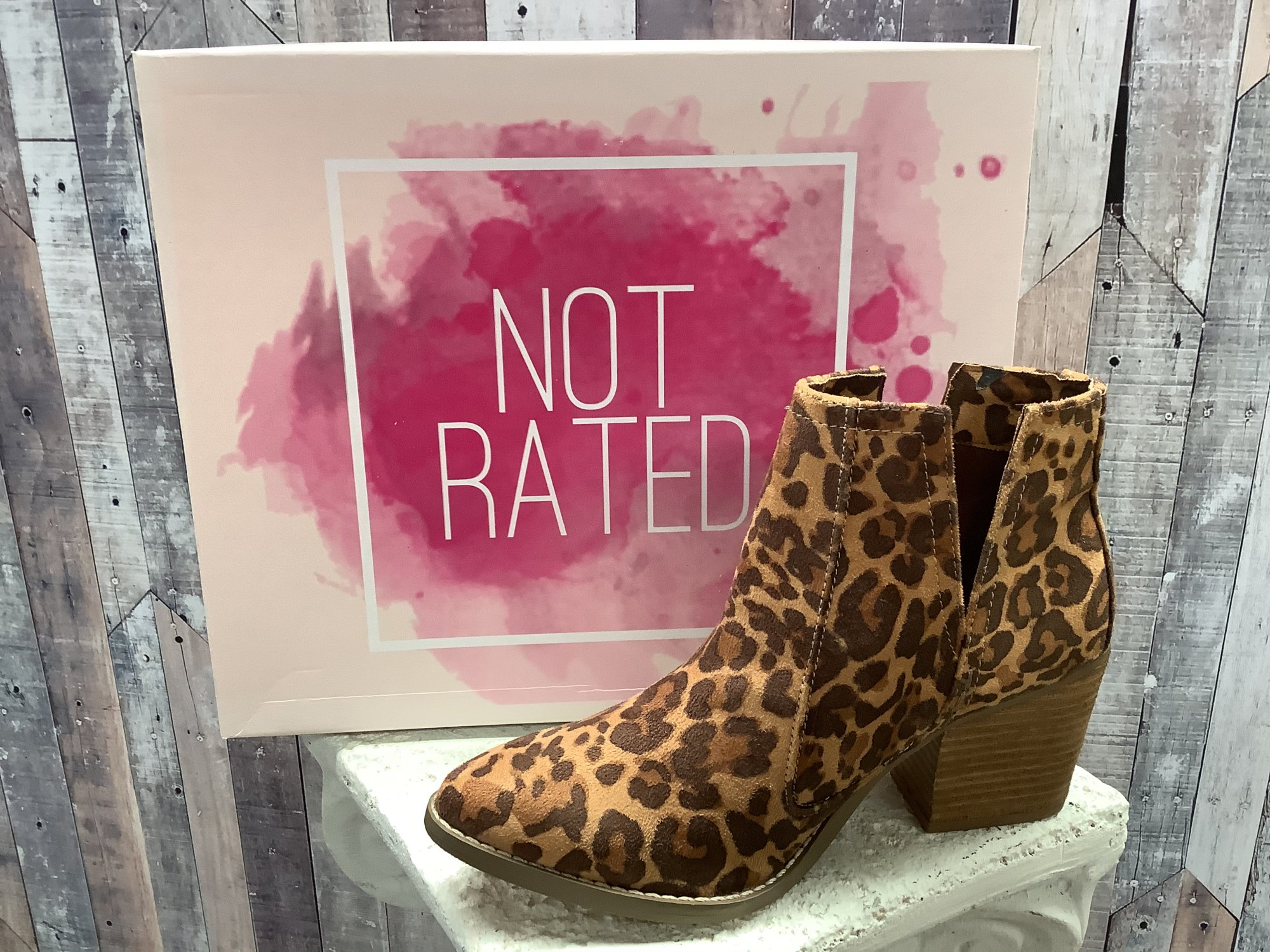 Not Rated Tarim Leopard Ankle Boot