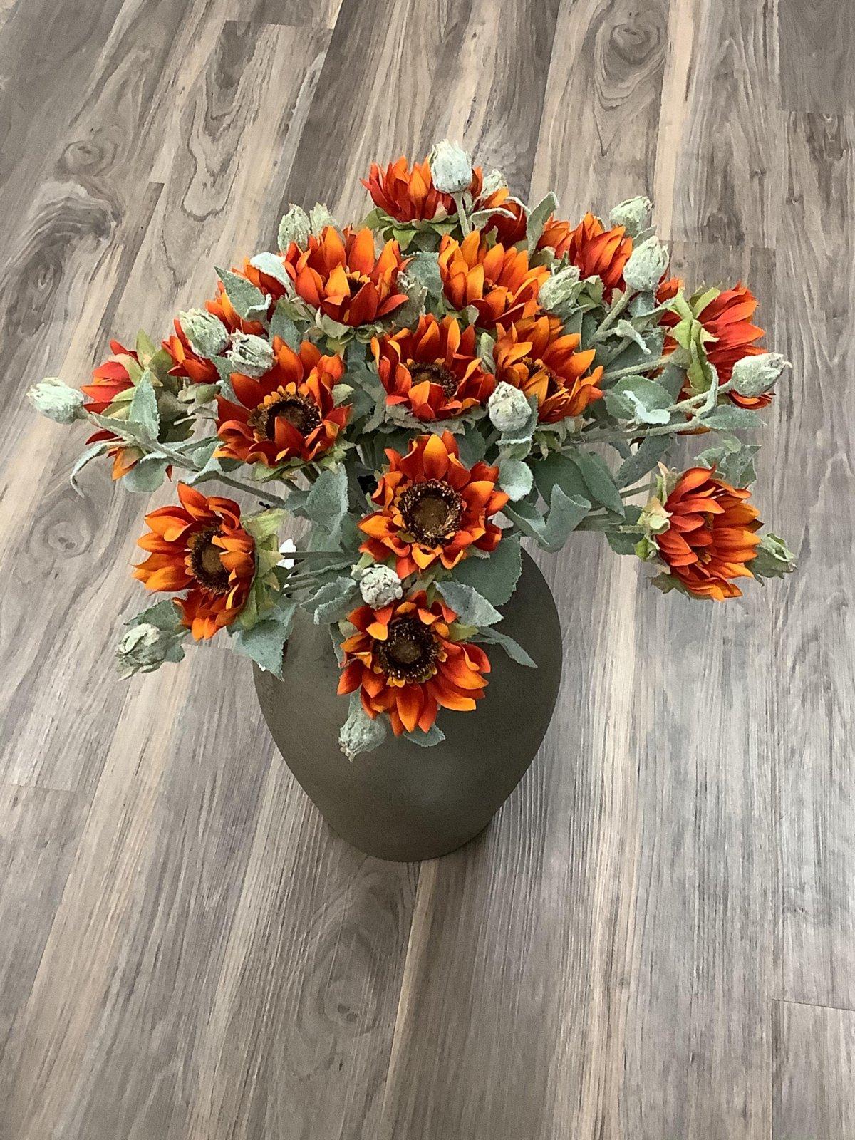 Orange Sunflower Long Stem
