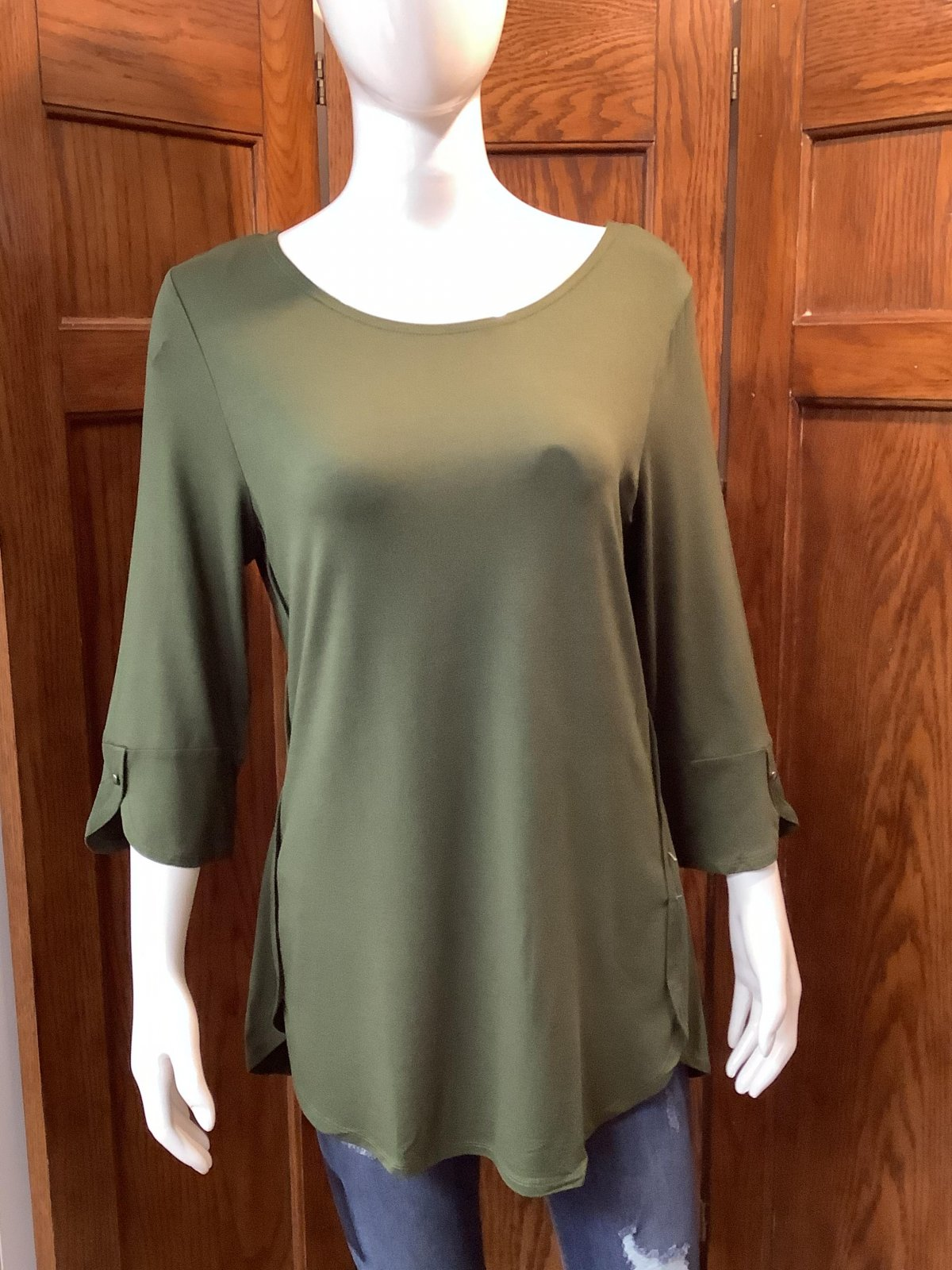 Olive Green Country Top