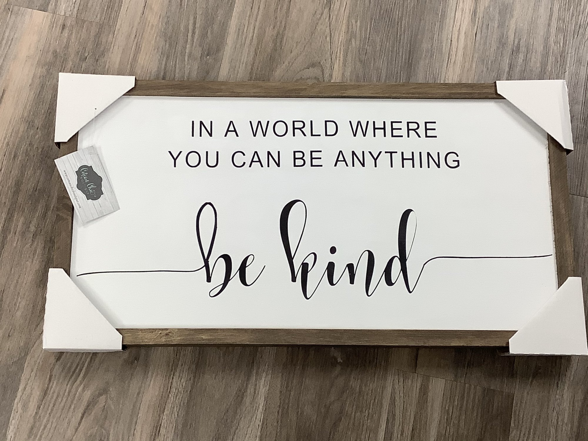 """24"""" x 12"""" Be Kind Wall Sign"""
