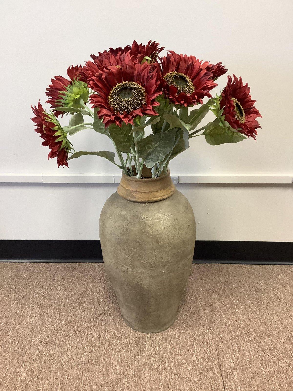 Clay Floor Vases