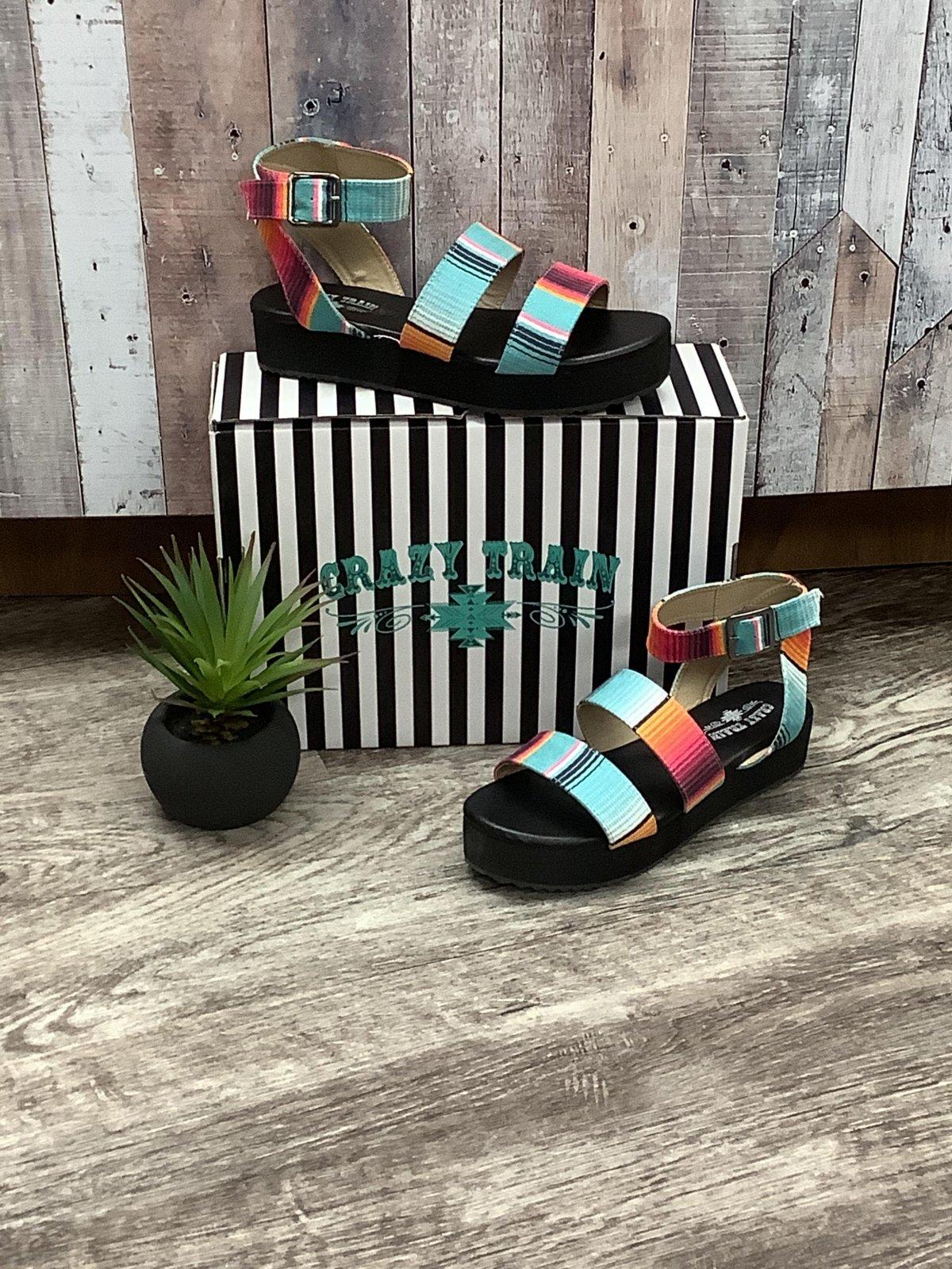 Turquoise Blanket Serape Sandal