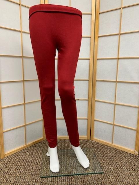 Maroon Fleece Lined Legging *Curvy Approved*